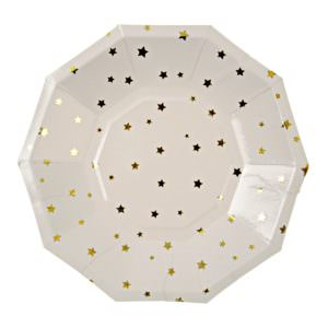 Gold Star Confetti Plates (small)