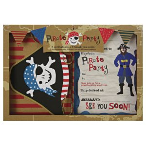 Pirates Invites and thank you cards