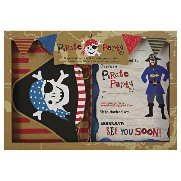 Invitations et Remerciements Pirates