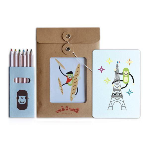Cartes postales à colorier Paris