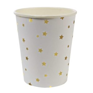 Gold Star Confetti Cups