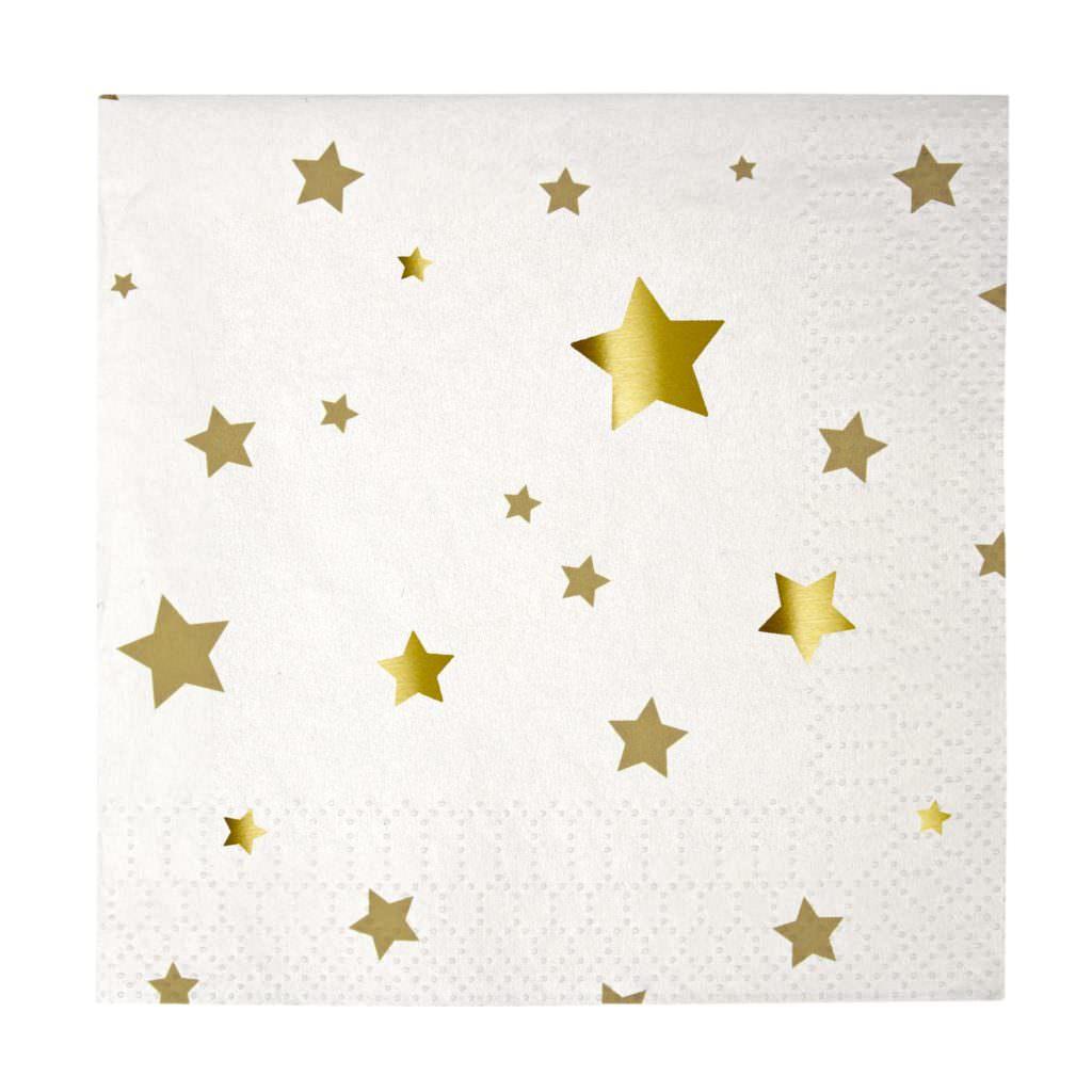 baby-prestige-serviettes-anniversaire-or-etoiles