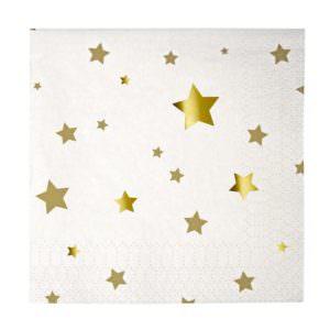 Gold Star Confetti Napkins (small)