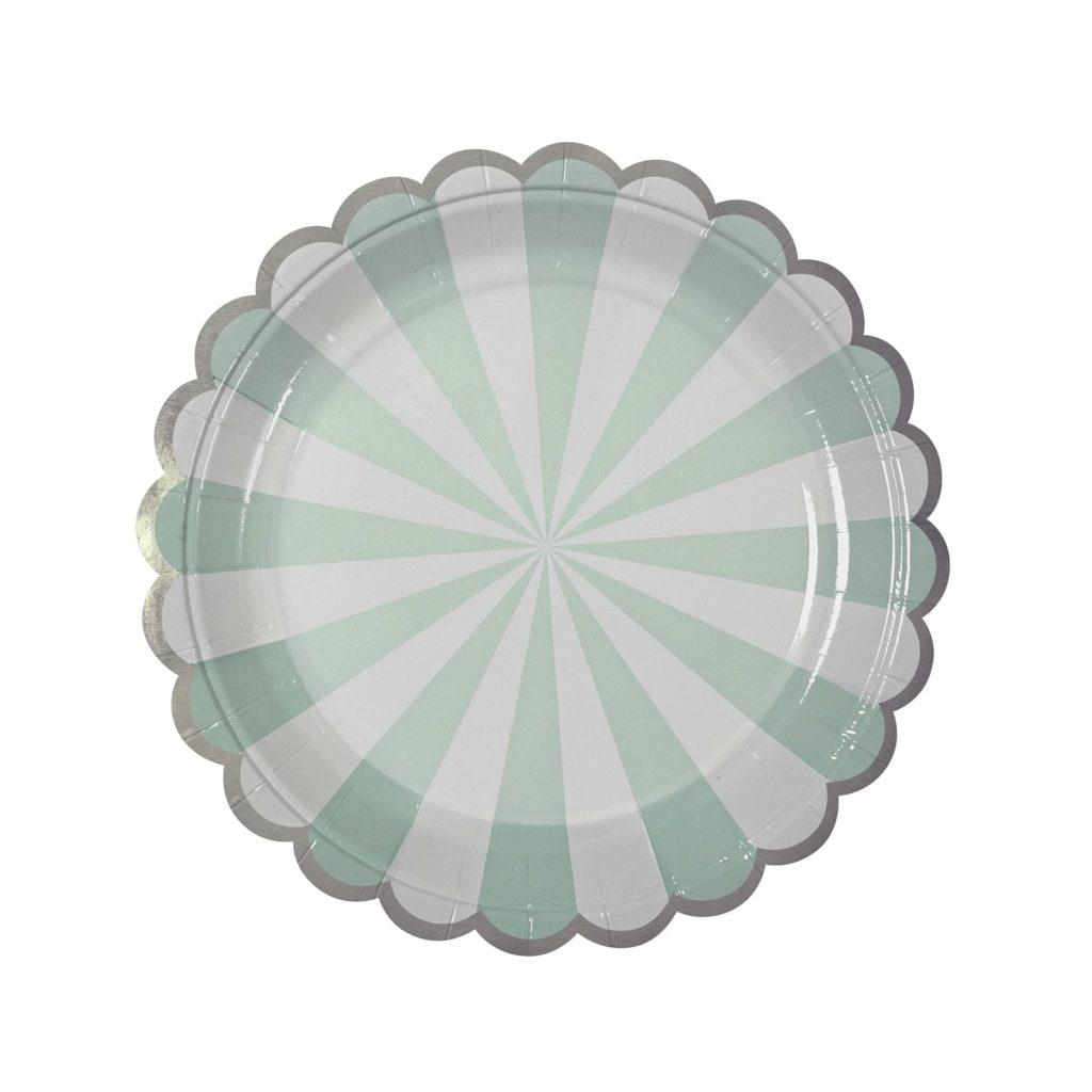 assiettes-vert-blanc-anniversaire