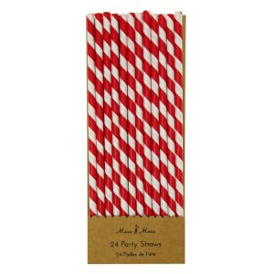 Red party straws