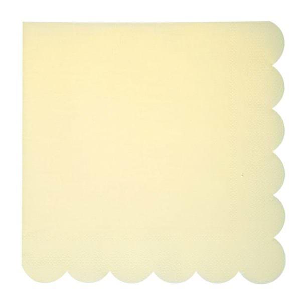 Grandes serviettes pastel