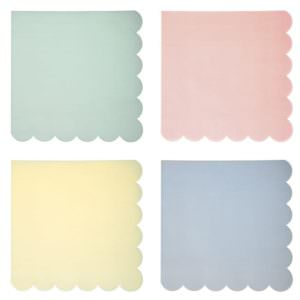 Assorted Pastel Napkins (large)