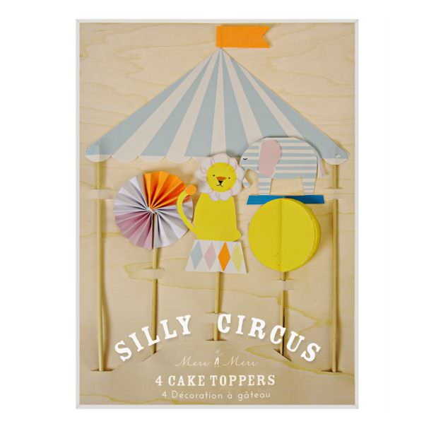 """Silly Circus"" Cake Toppers"