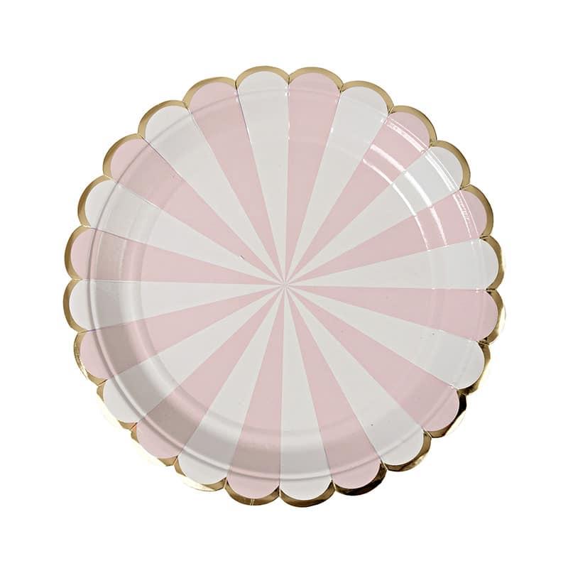 assiette-papier-rayures-blanc-rose-pastel-meri-meri