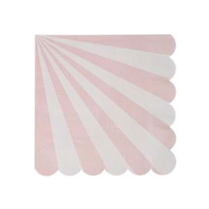 Pink stripe large napkins