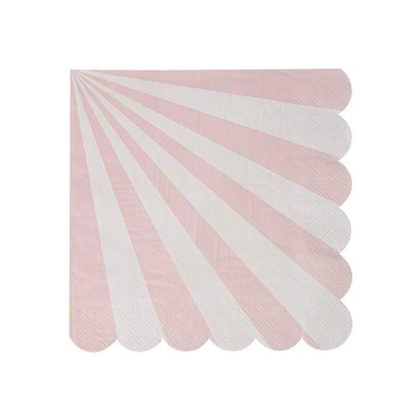 Grandes serviettes rose pastel