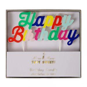 """Bougies """"Happy Birthday"""""""