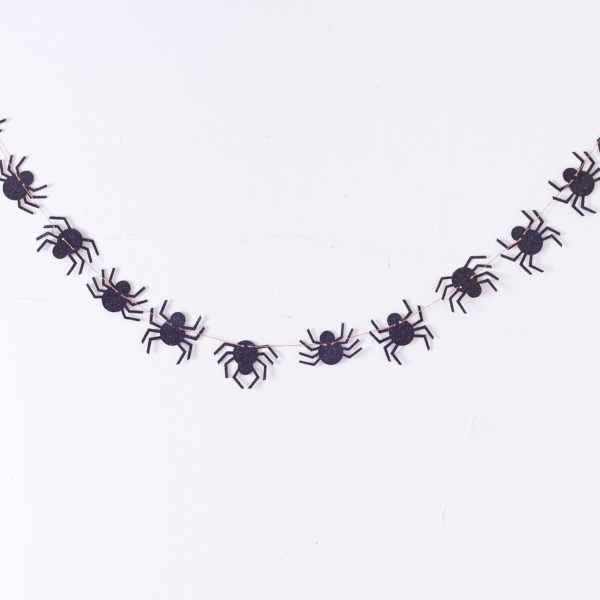 Halloween spider garland