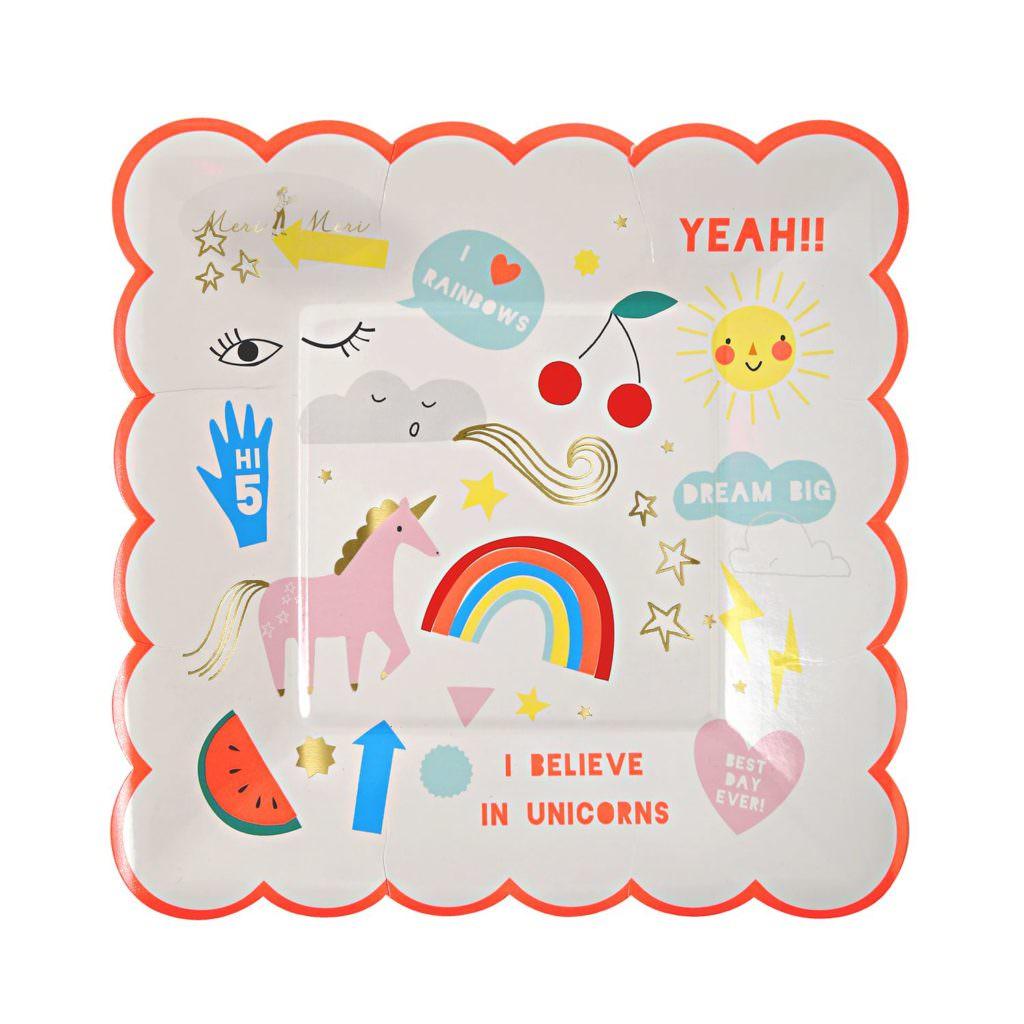 assiette-enfant-anniversaire-licorne-meri-meri