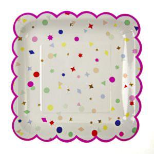 Grandes assiettes Confetti