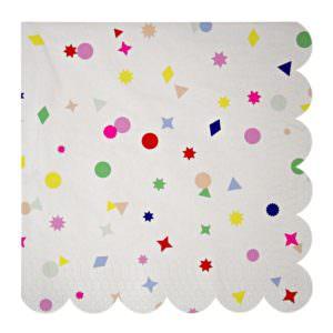 Toot Sweet Confetti napkins (large)