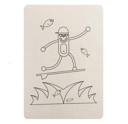 carte-postale-a-colorier-wistiworld-surfeur-monde