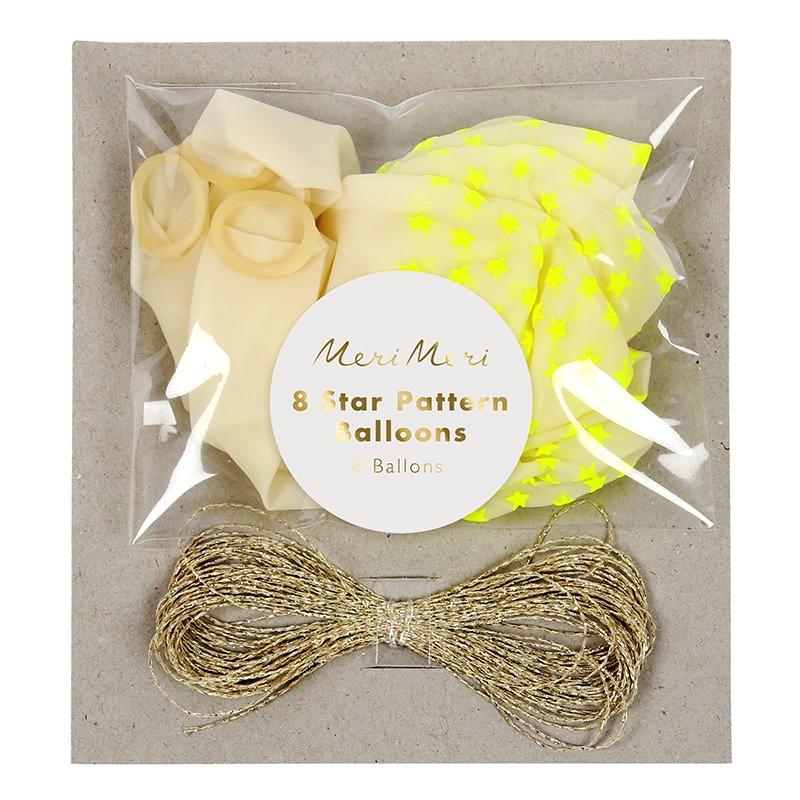 ballon-neon-jaune-etoile-fluo-meri-meri-baby-prestige
