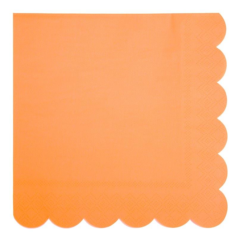 serviette-neon-orange-fluo-meri-meri-baby-prestige