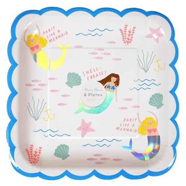 Mermaid plates