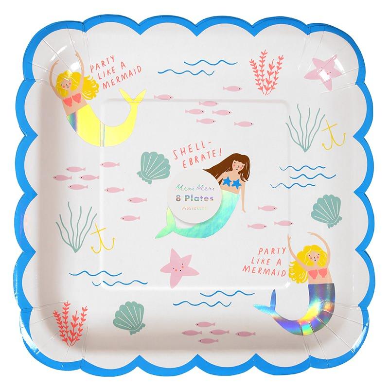assiettes-anniversaire-enfant-lets-be-mermaids-sirene-meri-meri