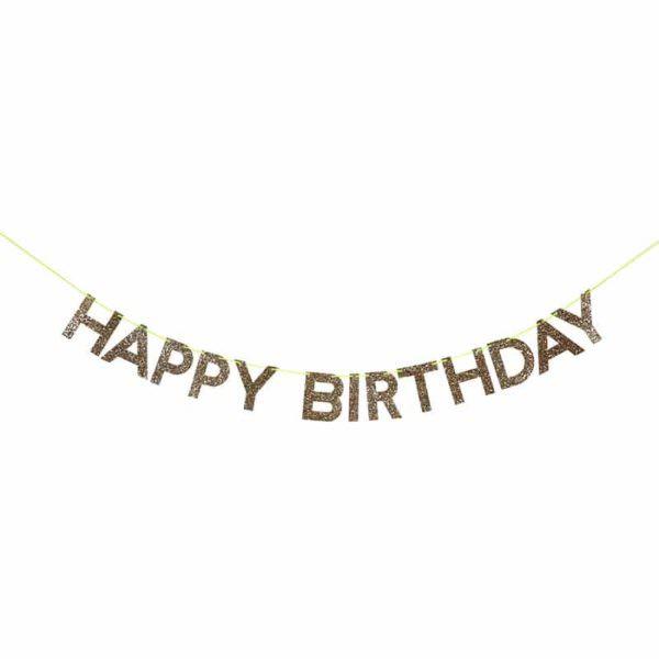 """Golden garland """"Happy Birthday"""""""