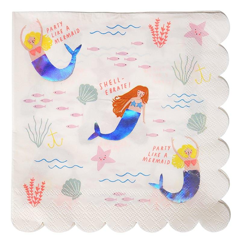 serviettes-anniversaire-enfant-lets-be-mermaids-sirene-meri-meri