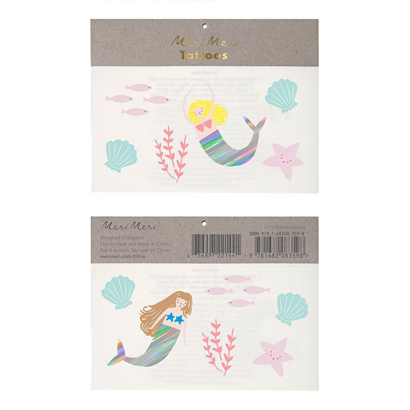 tatoo-tatouage-anniversaire-enfant-lets-be-mermaids-sirene-meri-meri