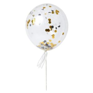 Gold & Silver Confetti Balloon Kit