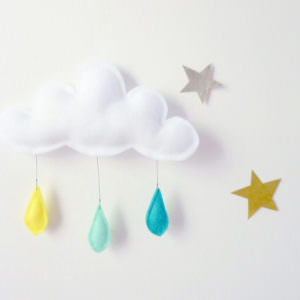 Felt cloud mobile kit