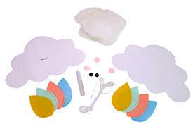 Kit mobile nuage en feutrine