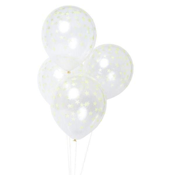 Neon Yellow Star Balloons