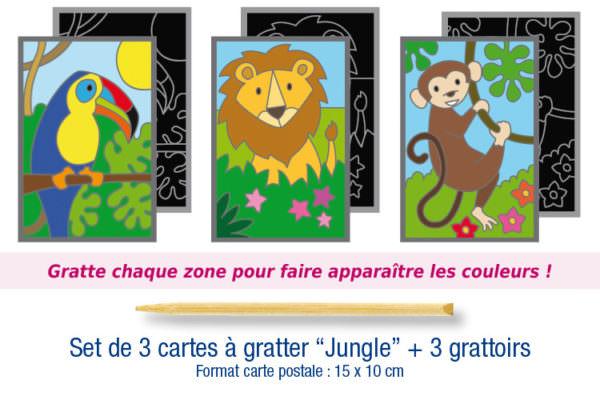 "Cartes à gratter ""Jungle"""