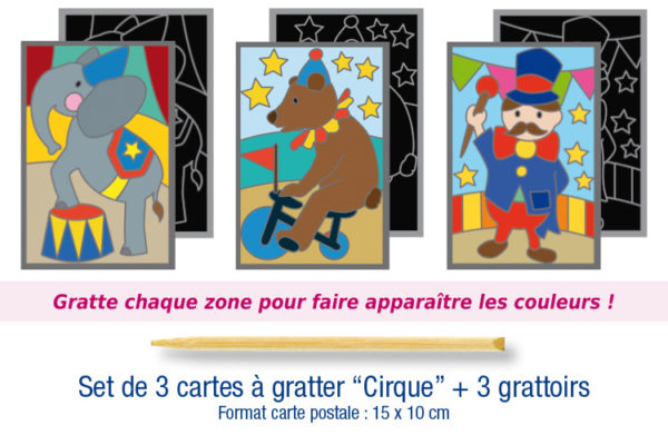 "Cartes à gratter ""Cirque"""