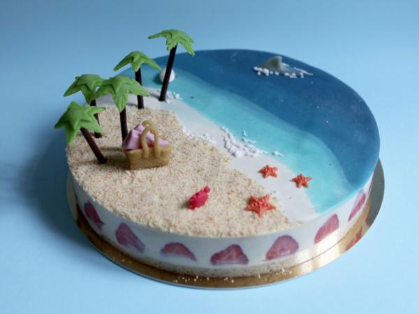 Coconut Palm Beach Cakes