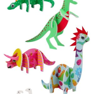 Foam cardboard 3D dinosaurs to decorate