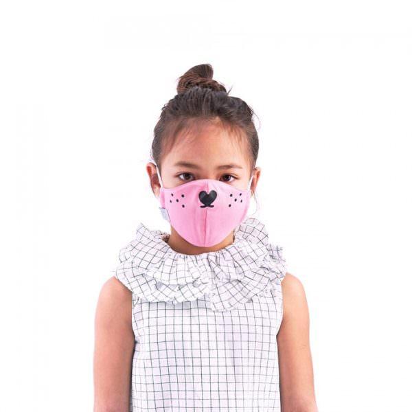 Children face mask Covid 19 White