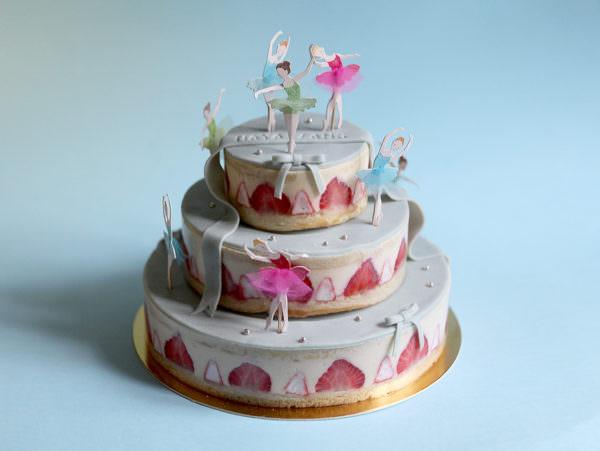 Gâteau Ballet bleu