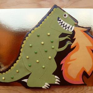 Gâteau Dinosaure qui crache du feu